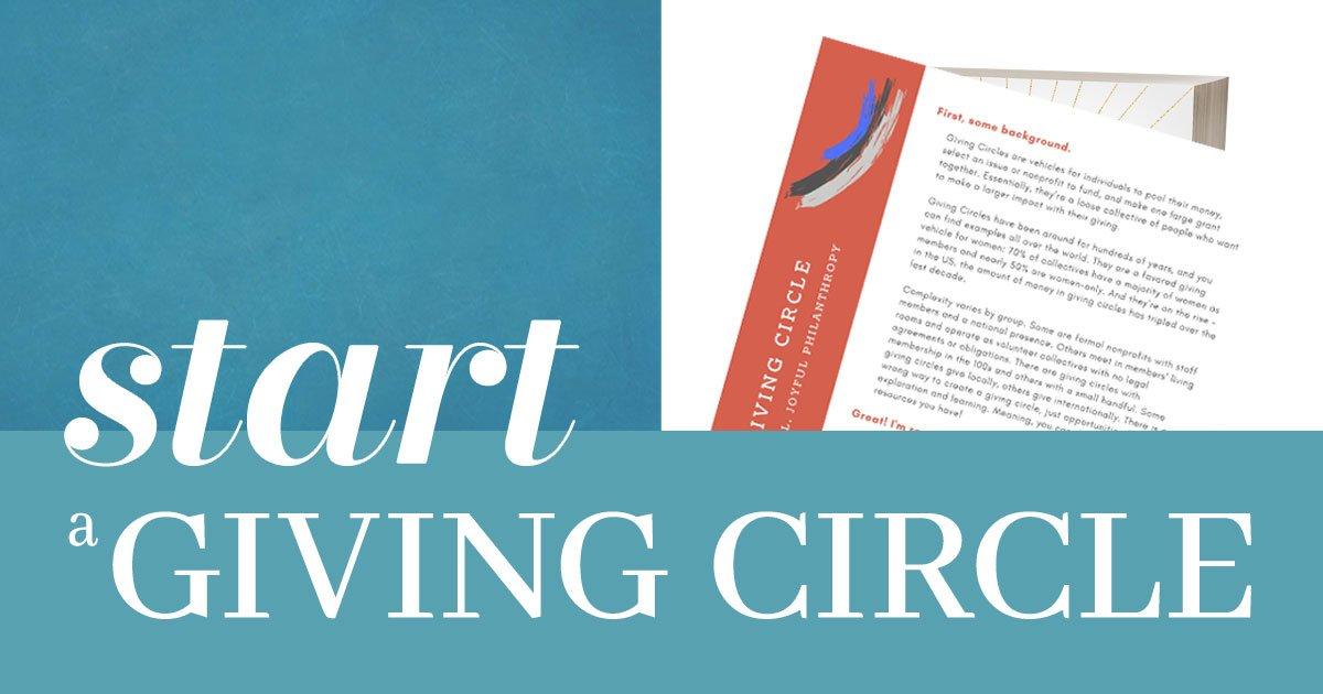 Start a Giving Circle